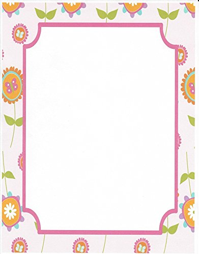 3115 Printer (Pink Floral Stationery Printer Paper 26 Sheets)