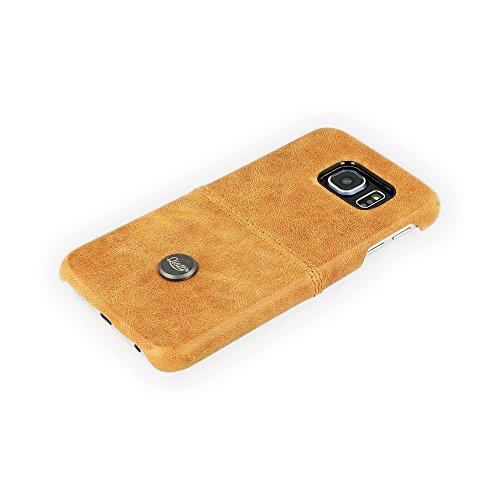 QIOTTI QX-C-0060-01-SGS6 Snapcase Q.Snap Smart Premium Echtleder für Samsung Galaxy S6 braun