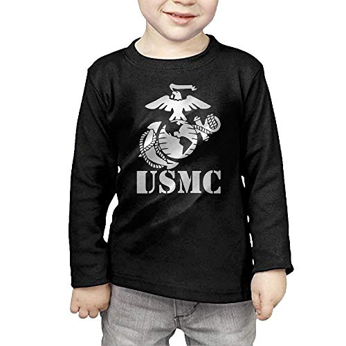 Eagle Globe Anchor USMC Marine Corps Vinyl Childrens Long Sleeve T-Shirt Cotton Tshirt Tee