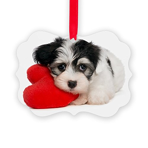 CafePress Lover Valentine Havanese Puppy - Christmas Ornament, Decorative Tree Ornament
