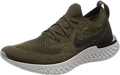 Nike Womens Epic React Flyknit Running Trainers AQ0070 Sneakers Shoes (UK 3.5 US 6 EU 36.5, Cargo Khaki Black Sequoia 300) 300