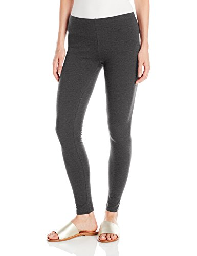 No Nonsense Women's Cotton Legging, Charcoal Grey, L