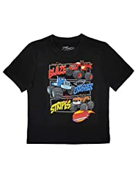 Blaze and the Monster Machines Toddler Boys Crew Neck T-Shirt, Black