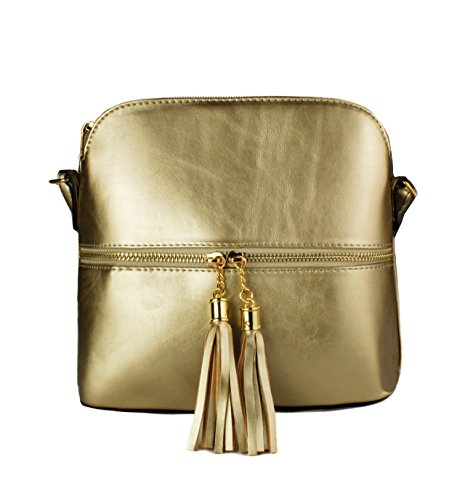 Messenger Gold Zip Crossbody Small Tassel nbsp;elegant Women's Bag Shoulder Foxlady qwHxzXUgW