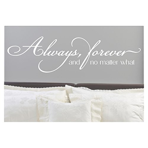 Sticker Lettering Decal Wall (Always, Forever, and No Matter What Vinyl Lettering Wall Decal Sticker (12