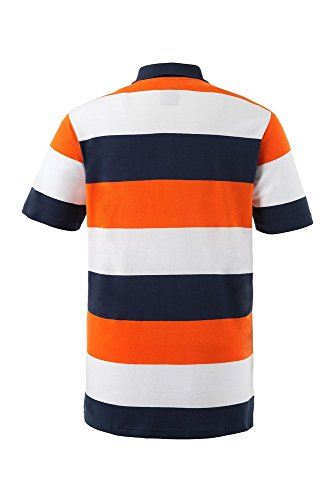 JP 1880 Herren Halbarm-Poloshirt, 69040265, orange, 7XL