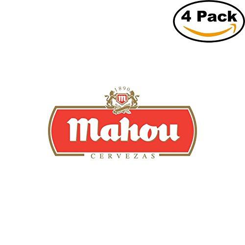 mahou-2-beer-logo-alcohol-4-vinyl-stickers-decal-bumper-window-bar-wall-4x4