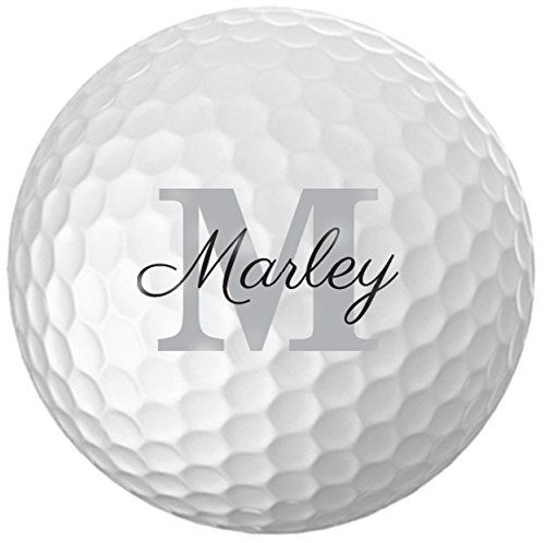 - Personalized Name & Initial Golf Balls - Customize The Name and Initial (12 Balls)
