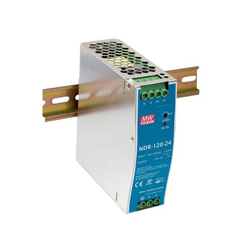 Single Output Industrial DIN Rail Power Supply, 24 Volts 5 Amps 120 Watts ()