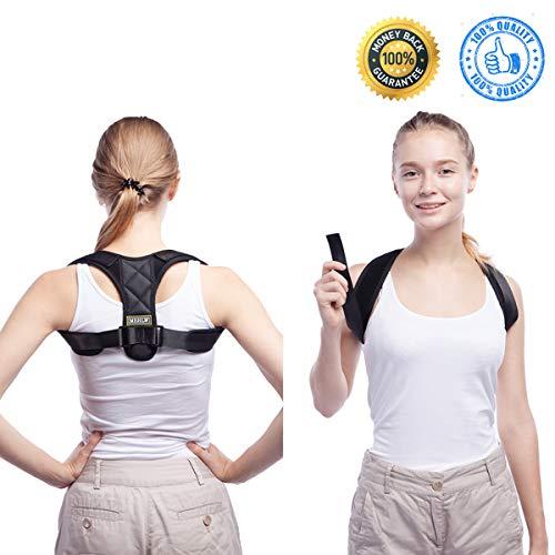 Posture Corrector Adjustable Posture Corrector for Women Men 27~40, Upper Back Brace Posture Corrector Clavicle Support Posture Corrector Posture Strap for Slouching Hunching Neck Pain Relief