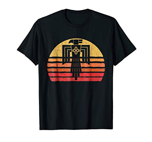 Native American Totem Thunderbird Sunset Silhouette T-Shirt