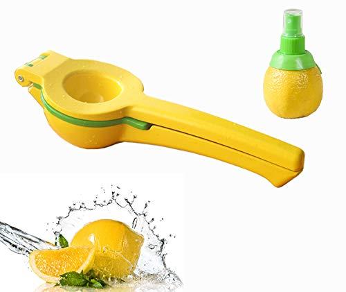NNRT Manual Lemon Squeezer - hand juicer fresh citrus juicer aluminum acid orange juicer fruit juicer juicing machine hand moving yellow