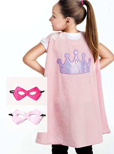 Little Adventures Super Hero Cape & Mask Set for Girls - ...