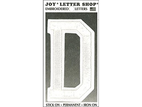 Joy JOY36004 Applique Letter Iron On Varsity White D, (Varsity Applique)