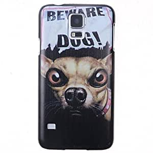 WQQ Cartoon Be Careful Dogs Pattern Back Cover for Samsung Galaxy S5 I9600