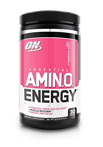 Optimum Nutrition Amino Energy Preworkout & Essential Amino Acids, Juicy Strawberry Burst, 270 Gram by Optimum Nutrition