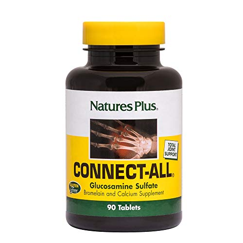 Sulfate 90 Tablets - NaturesPlus Connect-All - 300 mg Glucosamine Sulfate, 90 Tablets - Connective Tissues Support Supplement with Vitamins & Minerals, Promotes Healthy Joints - Gluten-Free - 45 Servings
