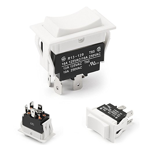 ((HY #21) Momentary Rocker Switch for Polarity Reversing DC Motor Control, (ON) OFF (ON))