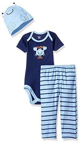 Gerber Baby Boys' 3 Piece Bodysuit, Cap and Pant Set