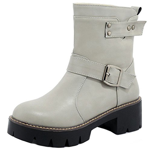 COOCLEPT Damen Stiefel Pull On Gray