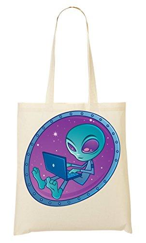 Laptop Sac Provisions À Fourre Tout Funny Alien CP Sac FqWt5c