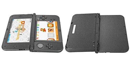 Skinomi® TechSkin - New Nintendo 3DS XL Screen Protector (2015) + Brushed Steel Full Body Skin / / Front & Back Film / Ultra HD & Anti-Bubble Shield (Nintendo 3DS LL Version)