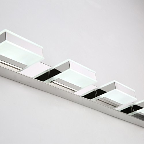 mirrea 16W Modern LED Vanity Light in 4 Lights, Cold White by mirrea (Image #3)