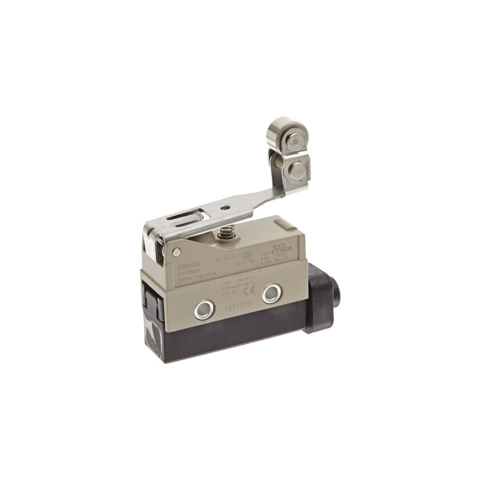 Omron ZC W355 Minature Enclosed Limit Switch, One Way Action Short Hinge Roller Lever