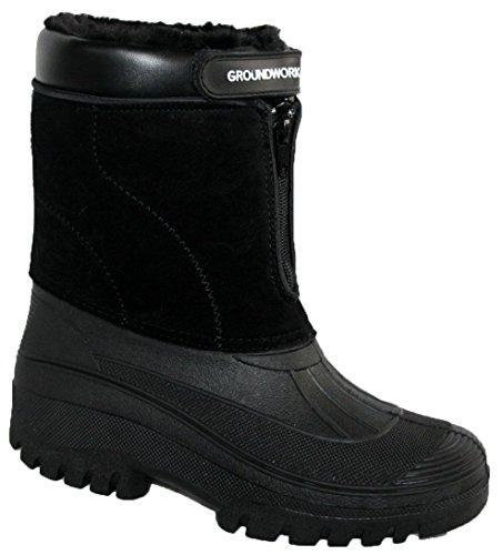 Groundwork - Zapatillas altas mujer negro