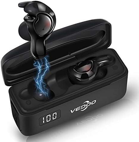Vedoo Wireless Earbuds Bluetooth 5.0 Sport Headphone Super Comfortable to Wear Ergonomic Design Crystal Clear Sound Bass