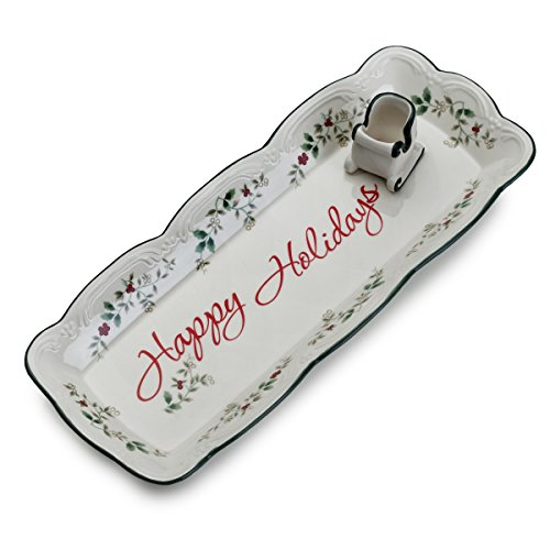 Winterberry Appetizer Plate - Pfaltzgraff Winterberry Appetizer Tray with Sleigh Toothpick Holder