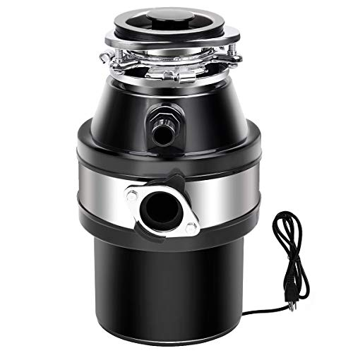 Goplus 1 HP Garbage Disposal with Power Cord, Household Food...