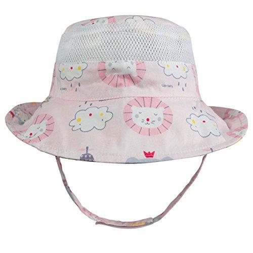 Plaid Print Cap - Eriso Baby Toddler Plaid Bucket Reversible Sun Protection Animal Hat (12-24 Months, Lemon)