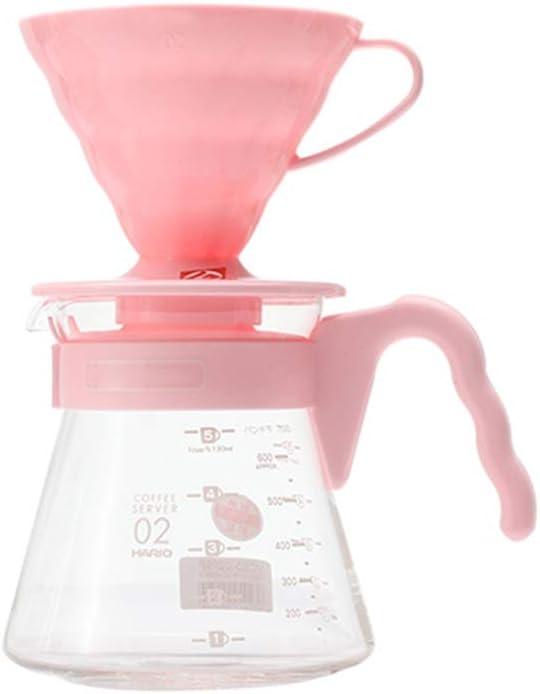 Filtro de Goteo doméstico Cafetera de Mano Cafetera for el hogar Mini pequeños electrodomésticos - Vidrio - Negro Lostgaming (Color : Pink): Amazon.es: Hogar