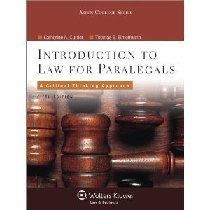 Introduction to Law for Paralegals 5th (Fifth) Edition byEimermann (Introduction To Law For Paralegals 5th Edition)