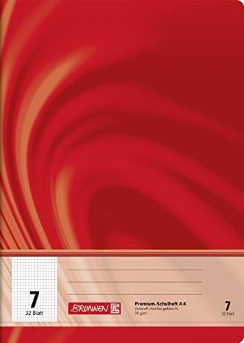 Brunnen 104440702 Schulheft A4 Vivendi (32 Blatt, 7 mm kariert, Lineatur 7)