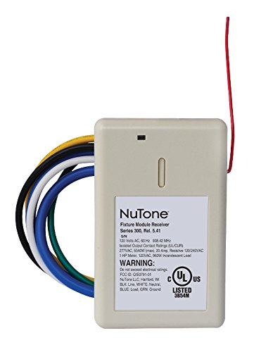 NuTone NFS20Z Smart Z-Wave Enabled Isolated Fixture Mounted Control, White ()