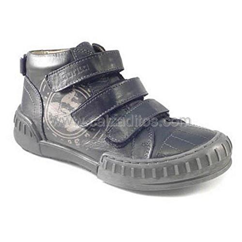 Botines Negros de Piel con 3 velcros, de Gorila - Negro, 28: Amazon.es: Zapatos y complementos