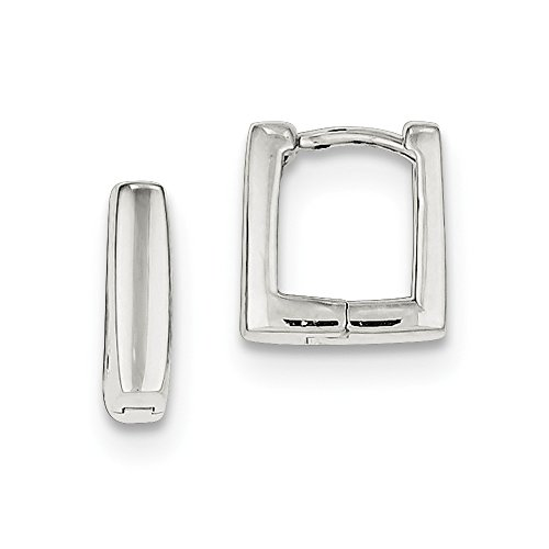 Sterling Silver Huggie-Style Earrings (Approximate Measurements 12mm x 3mm)
