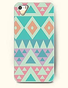 OOFIT Aztec Indian Chevron Zigzag Pattern Hard Case for Apple iPhone 4 4S ( Classic Colorful Retro Aztec Tribal Pattern )