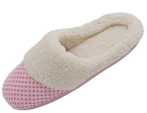 HushWear - Zapatillas de estar por casa para mujer Rosa