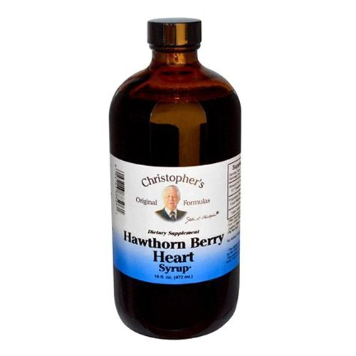 Dr Christophers Hawthorn Berry Heart Syrup 16 Oz by Christopher's Original Formulas by Christopher's Original Formulas