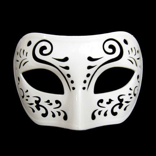 Dream Tale White Venetian Masquerade Mask ~ Mardi Gras Prom Party (STC12924)