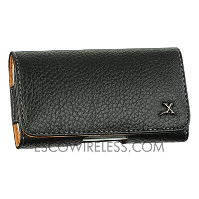 5800 Leather (For Nokia 5800 XpressMusic Premium Genuine Leather Horizontal Black Case Pouc...)