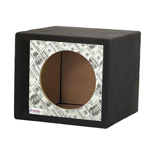 Series Single Subwoofer Enclosure (Atrend GFX Series 10SVR-Bankroll $100 Bills Pattern Single Vented 10
