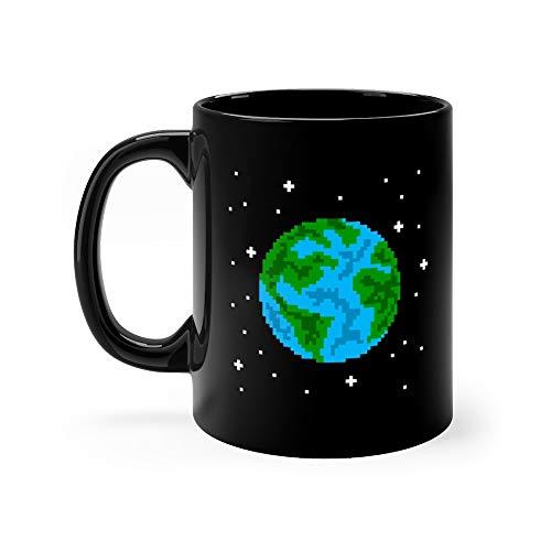 (Pixel Art Planet Earth Mr Tea Mugs Cup Ceramic 11 Oz)