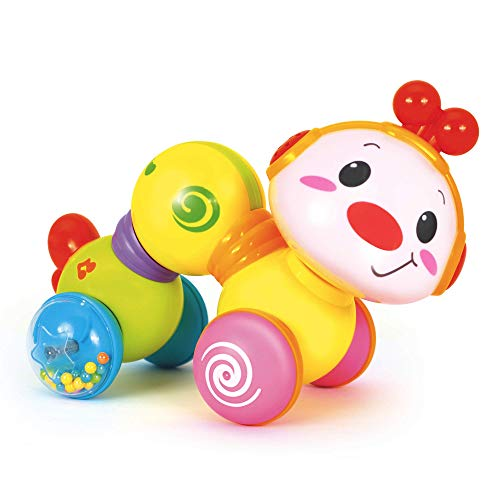 Happy Wiggle Worm - Fun Baby Crawling Toys Activity, Plays Music, Flashes Lights - Encourages Infants to Learn to Move and Explore by Rolling and Crawling - for Babies 6+ Months