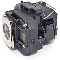 V13H010L58 Epson Projector Lamp Replacement. Projector Lamp Assembly with Genuine Original Osram P-VIP Bulb inside.