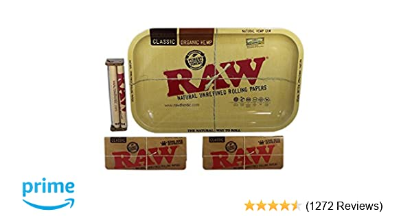 8cf34e613 Amazon.com  Raw Rolling Tray Small Bundle with Raw 110mm Roller and Raw  King Size Supreme Rolling Papers (Small)  Health   Personal Care