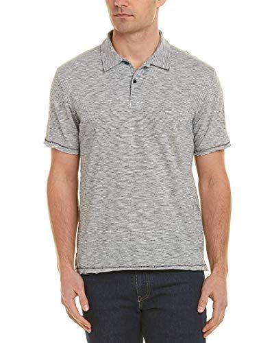 Polo Rags - rag & bone Mens Owen Stripe Polo Shirt, M, Blue